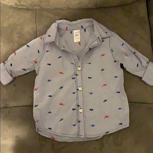 Adorable toddler boys button up shirt!